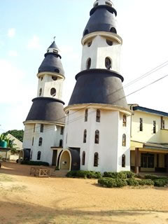 Kenstan Automatic Church Bell installation at Most Holy name Catholic Church at Umuchu. Anambra State, Nigeria