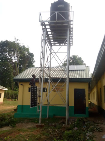 Solar powered borehole installation project